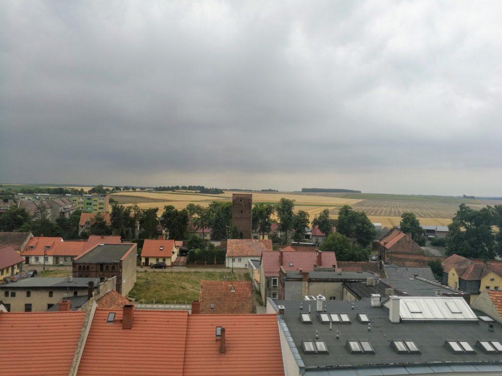 Byczyna - widok z wieży kościelnej